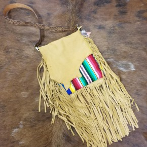 AD Buckskin Blanket Purse With Fringe