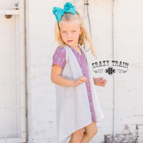 Crazy Train GIRLS Diamond Daze Silver Sparkle Duster