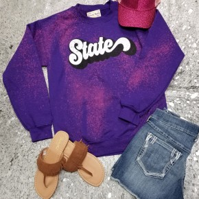Purple Bleached State Sweatshirt