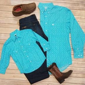 Panhandle Boy's Turquoise Roughstock Shirt