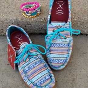 Twisted X Turquoise Multi Aztec Shoe
