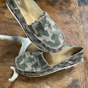 Ariat Touch of Pink Camo Suede Cruiser