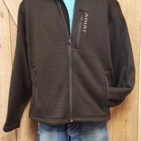 Ariat Men's Caldwell Dark Brew Full Zip Sweater