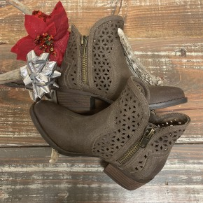 Etta Taupe Brown Booties
