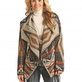 Powder River Pecos Southwest Fringe  Wool Jacket