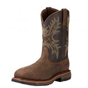 Men's Ariat WorkHog Wide Square Toe Waterproof Composite Toe Work Boot
