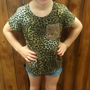 GIRLS Short Sleeve Leopard Tee