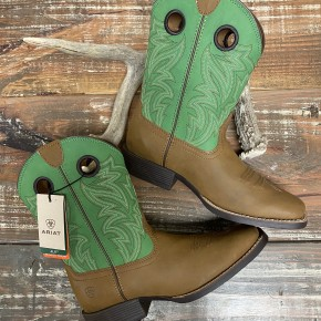 Ariat KIDS Catch Em' Green Top Boot
