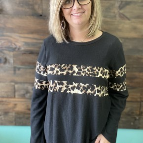 Leopard Print Ringer Sweater | Small to 3X *Final Sale*
