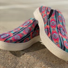 Sunset Slides Aztec Slip On Shoes | 6-11