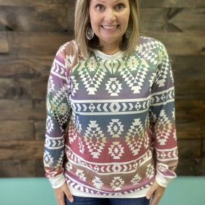 Ombre Aztec French Terry | Small to XL