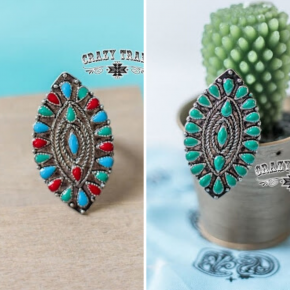 The Marqu Ring | Turquoise and Red