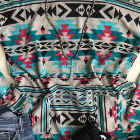 Aztec Pocket Tunic | Small to 3X *Final Sale*