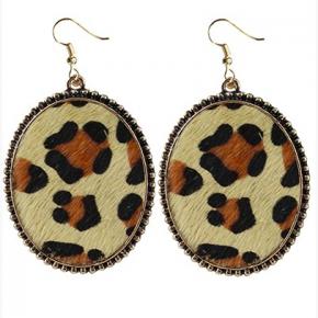 Leopard Print Hide Earrings