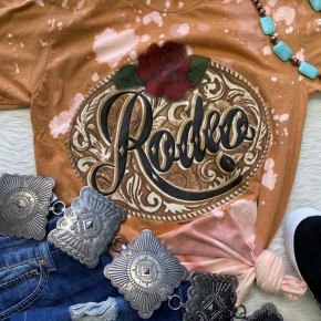 Rodeo Bleached Tee | Small to 2X