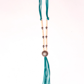 Turquoise and Ivory Tassel Necklace