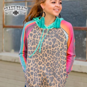 Leopard and Serape Hoodie | Small to 3X *Final Sale*