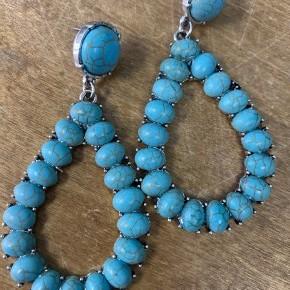 Turquoise Teardrop Stone Earrings