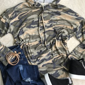Camouflage French Terry Hoodie | Small to 3X