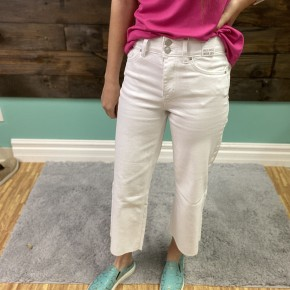 Wide Leg Crop Jean | White | 1-13