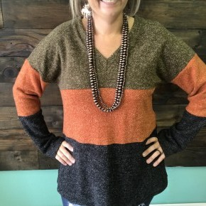 Fall Color Block Sweater | Small to 3X *Final Sale*