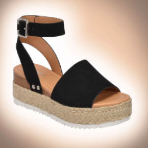 Single Strap Espadrilles | Black