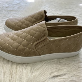 Quilted Slide on Sneakers | Taupe