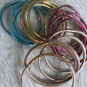 Stacked Glitter Bracelets   Gold, Blue, Rose Gold, Red