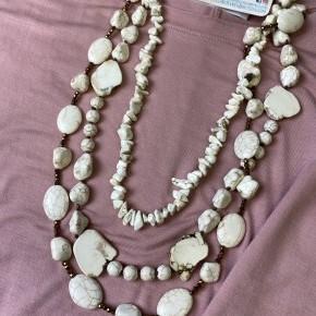 3 Strand Chunky Stone Necklace | Cream