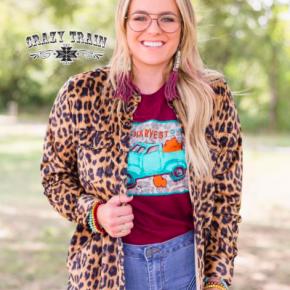 Leopard Corduroy Button Down