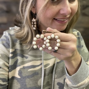 Cream Squash Earrings