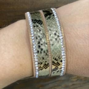 Gold Snakeskin Cuff