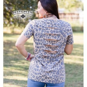 Slit Back Leopard Tee | Small to 3X