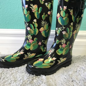 Cactus Rain Boots *Final Sale*