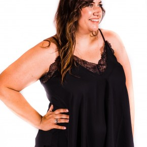 Black Lace Trimmed Camisole | Small to 3X *Final Sale*