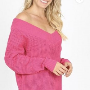 Caught In The Middle Sweater,Pink