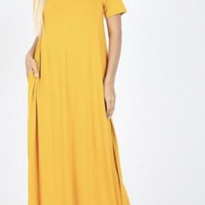 Perfect Maxi Dress, Mustard