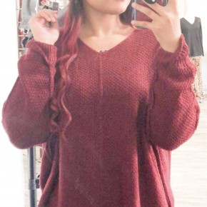 Strolling Downtown Sweater,Burgundy
