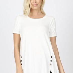 Cute As A Button Top,Ivory