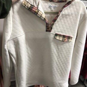 Plaid Elbow Patch Pullover
