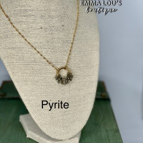 "BLACK FRIDAY Melania Clara ""Alma"" Circle Beaded Pendant on Gold Chain Necklace"