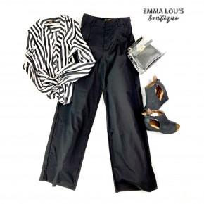 L&B Black Wide Leg Trouser