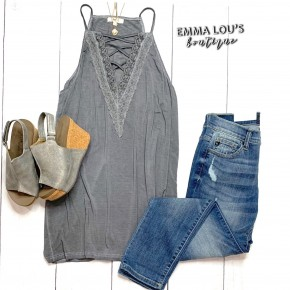 Swingy Lace Up Cami Tunic