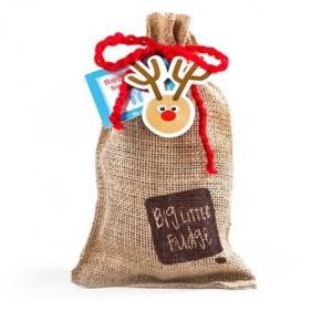 Big Little Fudge Holiday Burlap Sack – 8 PC