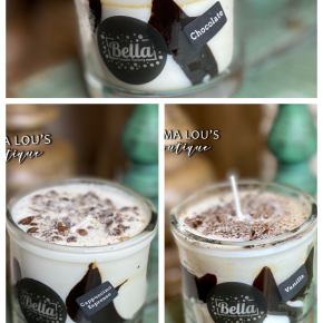 Bella Candle Dulce de leches Striped Dessert Candle