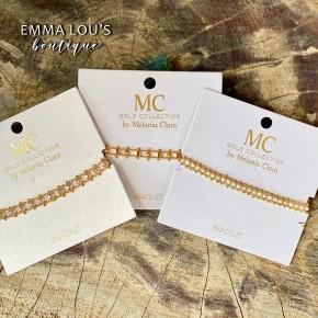 12 DAYS OF CHRISTMAS DEAL: Melania Clara Olivia Gold Adjustable Bracelets with Semi Precious Stones
