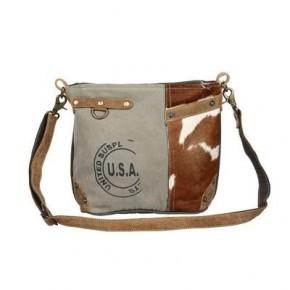 Myra Usa Stamped Shoulder Bag