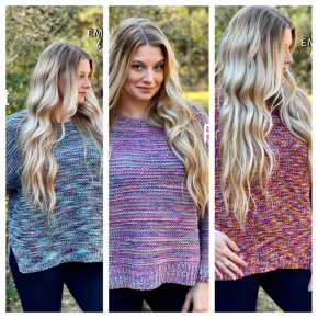 Easel Nothing Better Multi Color Sweater