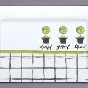 "Magnolia Lane ""3 Bushes"" Platter and Mini Tray"