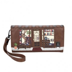 Vendula Book Shop Coffee Flap Wallet